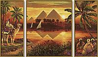 "Schipper - Malen nach Zahlen Meisterklasse ""Tryptichon Pyramiden am Nil"", Mal-Set - Produktdetailbild 1"