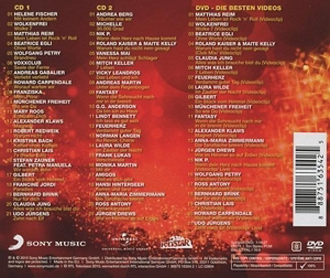 Schlager 2015 - Die Hits des Jahres 2 CDs + DVD von Various