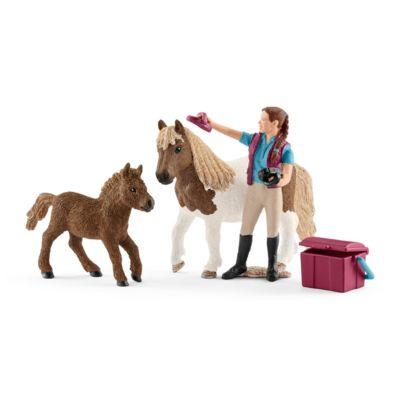 Schleich Horse Club 42362 Pferdepflegerin mit Shettys