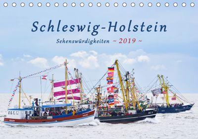 Schleswig-Holstein Sehenswürdigkeiten (Tischkalender 2019 DIN A5 quer), Rainer Kulartz