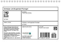 Schlösser- und Burgenland Thüringen (Tischkalender 2019 DIN A5 quer) - Produktdetailbild 3