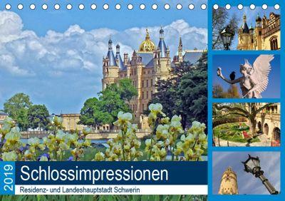 Schlossimpressionen Schwerin 2019 (Tischkalender 2019 DIN A5 quer), Holger Felix