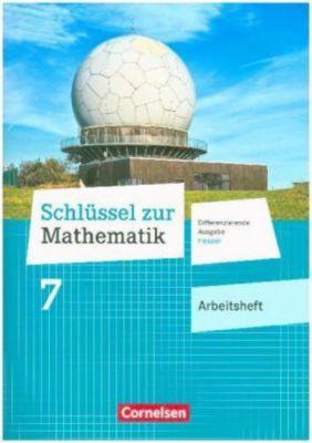 Schlüssel zur Mathematik, Differenzierende Ausgabe Hessen: 7. Schuljahr - Arbeitsheft mit eingelegten Lösungen