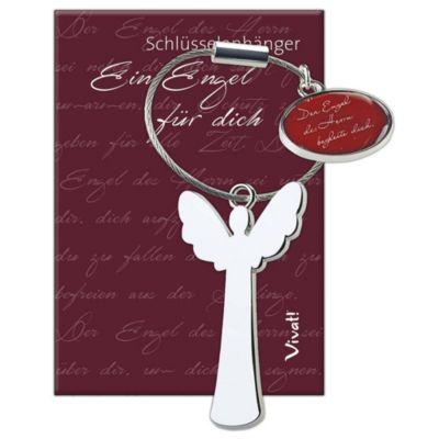 Schlüsselanhänger mit Segenswunschmedaillon »Ein Engel für dich«