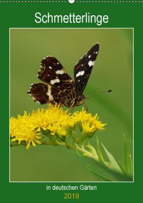 Schmetterlinge in deutschen Gärten (Wandkalender 2019 DIN A2 hoch), Werner Prescher