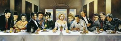 Schmidt Panorama-Puzzle - Renato Casaro Dinner der Berühmten, 1000 Teile, Renato Casaro