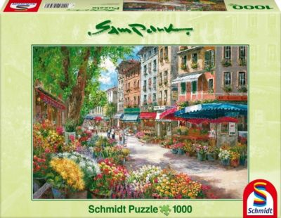 Schmidt Puzzle - Sam Park Paris, Blumenmarkt, 1000 Teile, Sam Park
