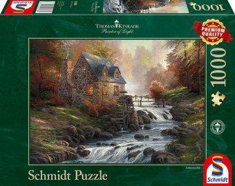 Schmidt Puzzle - Thomas Kinkade Bei der alten Mühle, 1000 Teile
