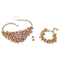 """Schmuckset """"Glamour"""" mit Statementkette, Armband und Ohrsteckern - Produktdetailbild 1"""