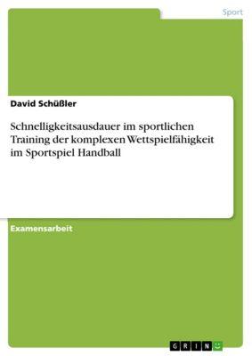 Schnelligkeitsausdauer im sportlichen Training der komplexen Wettspielfähigkeit im Sportspiel Handball, David Schüßler