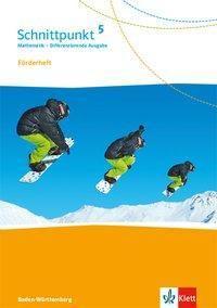 Schnittpunkt Mathematik, Differenzierende Ausgabe Baden-Württemberg: 5. Schuljahr, Förderheft mit Lösungen