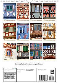 Schönes Fachwerk in Ladenburg am Neckar (Wandkalender 2019 DIN A4 hoch) - Produktdetailbild 13