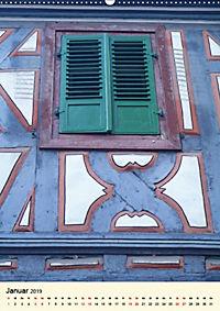 Schönes Fachwerk in Ladenburg am Neckar (Wandkalender 2019 DIN A2 hoch) - Produktdetailbild 1