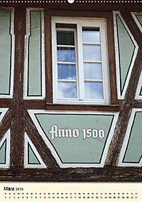 Schönes Fachwerk in Ladenburg am Neckar (Wandkalender 2019 DIN A2 hoch) - Produktdetailbild 3