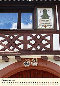 Schönes Fachwerk in Ladenburg am Neckar (Wandkalender 2019 DIN A2 hoch) - Produktdetailbild 12