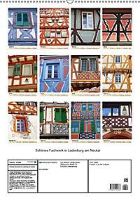 Schönes Fachwerk in Ladenburg am Neckar (Wandkalender 2019 DIN A2 hoch) - Produktdetailbild 13
