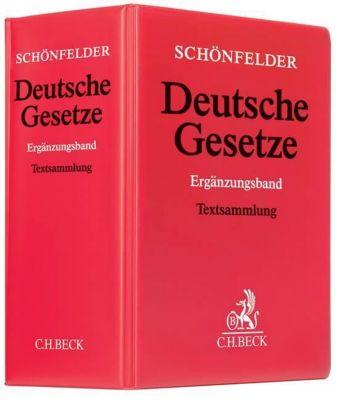 Schönfelder Deutsche Gesetze, Ergänzungsband, Grundwerk ohne Fortsetzung