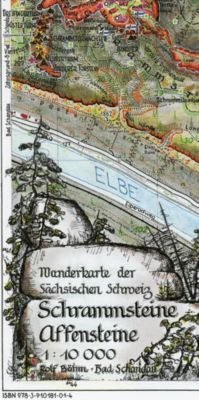 Schrammsteine·Affensteine 1 : 10 000 - Rolf Böhm  