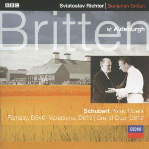 Schubert: Fantasy In F minor For Piano Duet, Grand Duo Sonata in C etc., Benjamin Britten, Svjatoslav Richter
