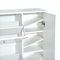 Schuhschrank mit 3 Klappen (Farbe: weiß) - Produktdetailbild 7