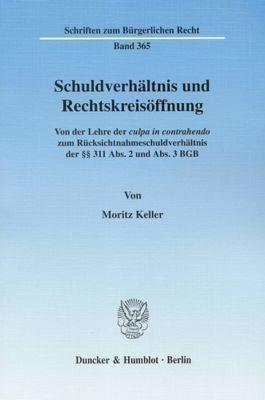 Schuldverhältnis und Rechtskreisöffnung, Moritz Keller
