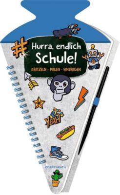 Schultüten-Kratzelbuch - Funny Patches - Hurra, endlich Schule! (blau) -  pdf epub