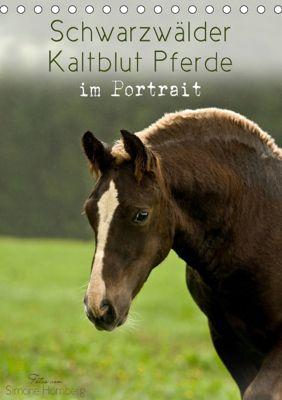 Schwarzwälder Kaltblut Pferde im Portrait (Tischkalender 2019 DIN A5 hoch), Simone Homberg