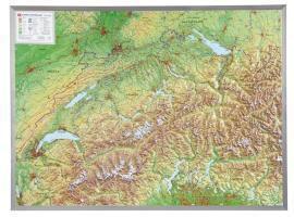 Schweiz, Reliefkarte, Gross, m. Aluminiumrahmen, André Markgraf, Mario Engelhardt