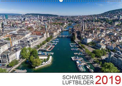 Schweizer Luftbilder 2019 (Wandkalender 2019 DIN A2 quer), Luftbilderschweiz. ch