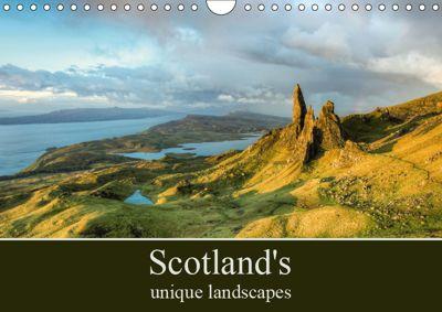 Scotland's unique landscapes (Wall Calendar 2019 DIN A4 Landscape), Michael Valjak