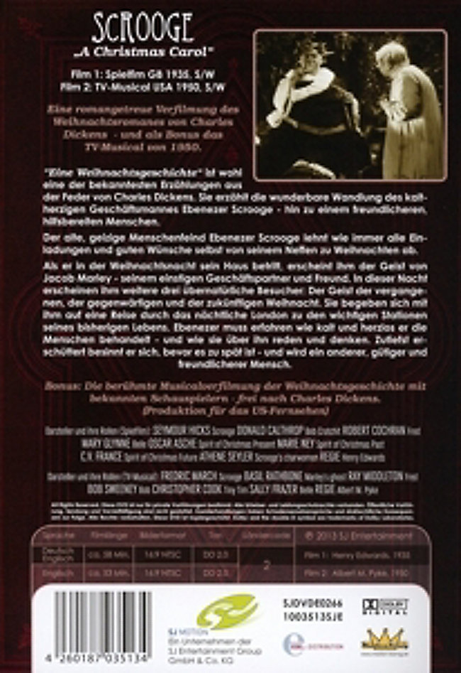 Scrooge - Der Weihnachtsfilm A Chrsitmas Carol DVD | Weltbild.de