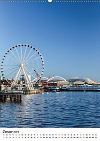 Seattle - Moderne Stadt des Nordwestens (Wandkalender 2019 DIN A2 hoch) - Produktdetailbild 1