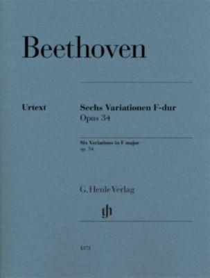 Sechs Variationen F-dur op. 34, Klavier - Ludwig van Beethoven  