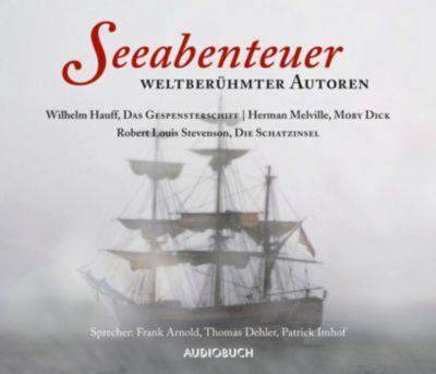 Seeabenteuer weltberühmter Autoren, 10 CDs, Wilhelm Hauff, Herman Melville, Robert Louis Stevenson
