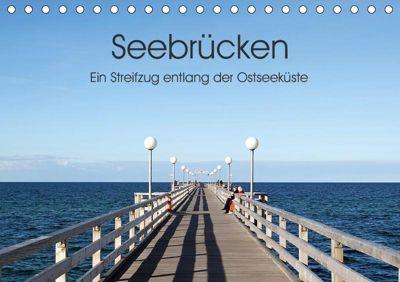 Seebrücken - Ein Streifzug entlang der Ostseeküste (Tischkalender 2019 DIN A5 quer), Oliver Buchmann