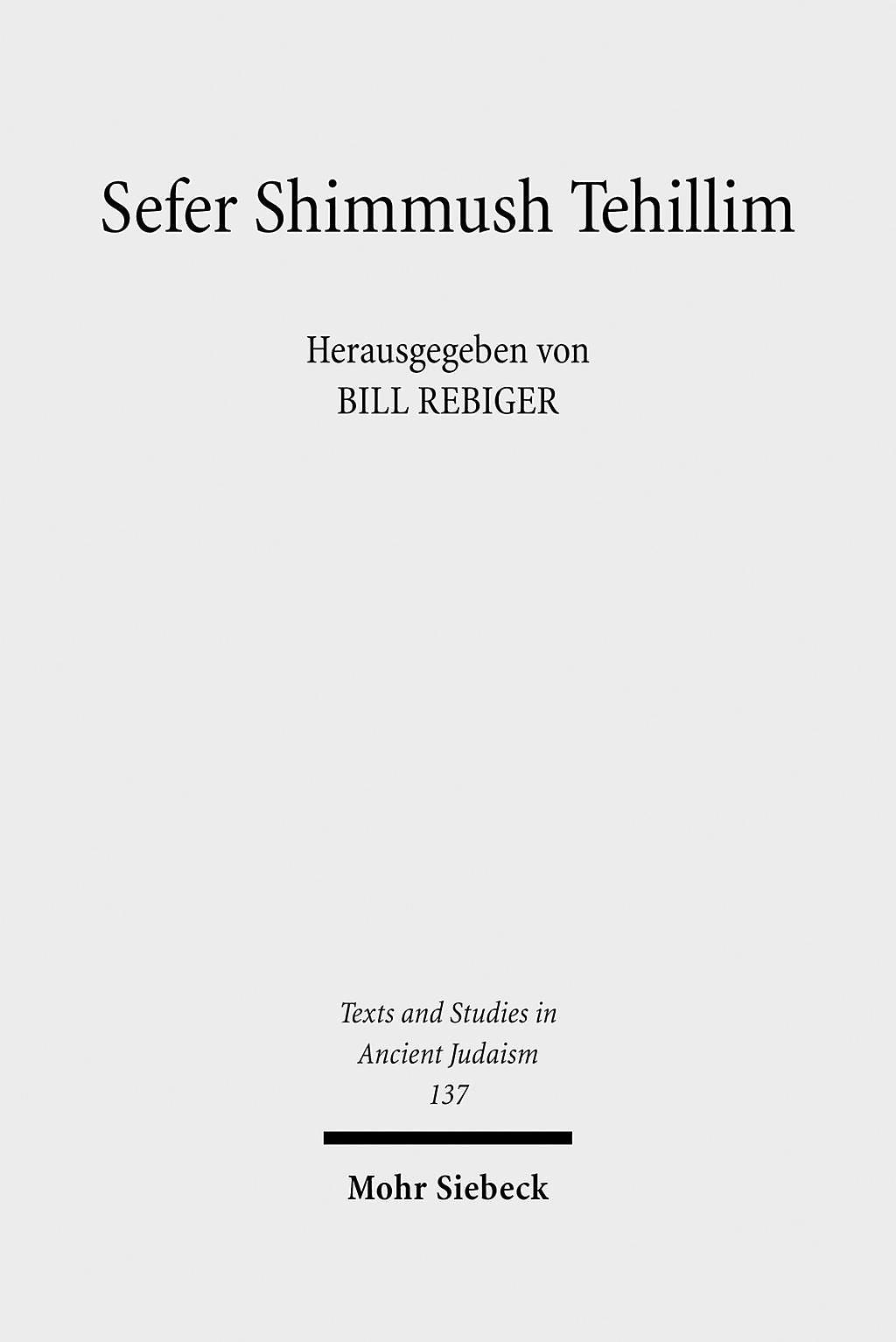 Sefer Shimmush Tehillim - Buch vom magischen Gebrauch der