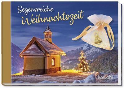 Segensreiche Weihnachtszeit, m. kleiner goldfarbener Glocke