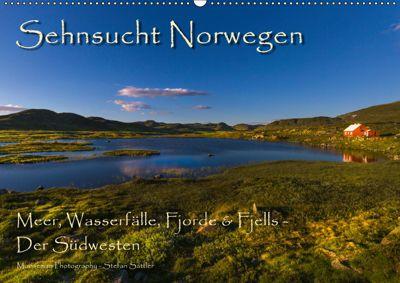 Sehnsucht Norwegen - Meer, Wasserfälle, Fjorde und Fjells - Der Südwesten (Wandkalender 2019 DIN A2 quer), Stefan Sattler