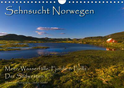 Sehnsucht Norwegen - Meer, Wasserfälle, Fjorde und Fjells - Der Südwesten (Wandkalender 2019 DIN A4 quer), Stefan Sattler