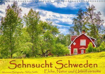 Sehnsucht Schweden - Elche, Natur und Urlaubsträume (Wandkalender 2019 DIN A3 quer), Stefan Sattler