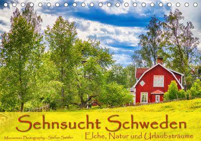 Sehnsucht Schweden - Elche, Natur und Urlaubsträume (Tischkalender 2019 DIN A5 quer), Stefan Sattler