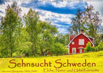 Sehnsucht Schweden - Elche, Natur und Urlaubsträume (Wandkalender 2019 DIN A2 quer), Stefan Sattler