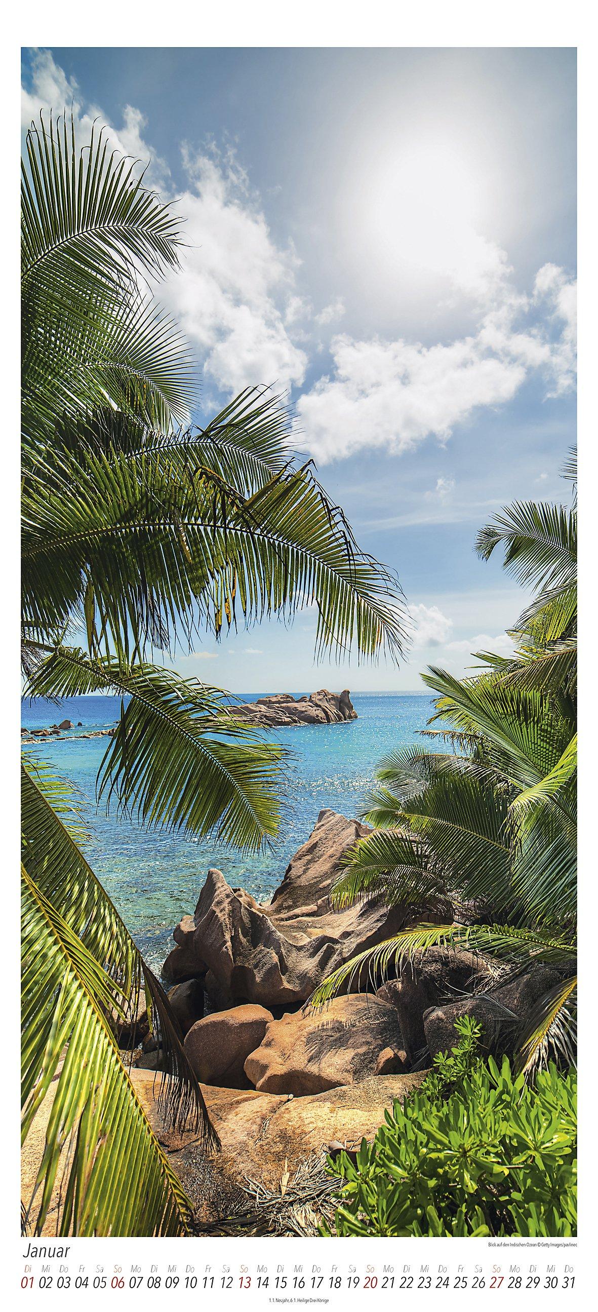 Sehnsuchtsort Insel Midi-Panoramakal. 2019 - Kalender bestellen