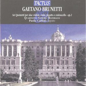 Sei Quintetti Op. 2, Sandro Quartetto Materassi