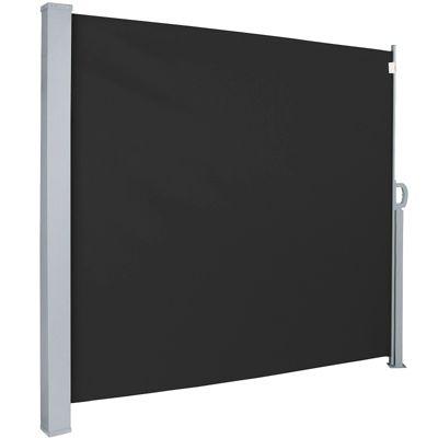 Seitenmarkise schwarz 160 x 300 cm