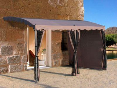 Seitenwand-Set für Anbaubaupergola Mallorca, 3-teilig (Farbe: Taupe)