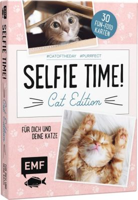 Selfie Time! Cat Edition - 30 Fun-Fotokarten