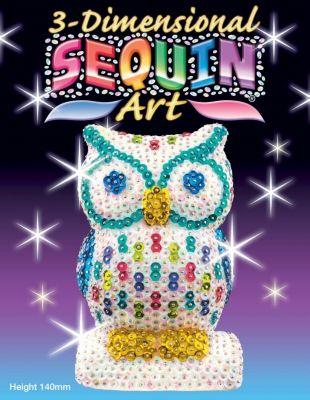 Sequin Art - Paillettenbild / -figur - 3D Sequin Eule