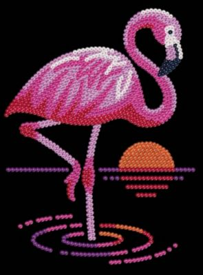 Sequin Art Red - Flamingo