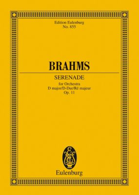 Serenade D major, Johannes Brahms